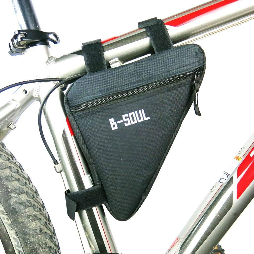 Green Fahrrad Triangle Tasche Cycling Frame Tasche Satteltasche Fahrrad Small Head Holder Handy kompatibel Mobile Holder Storage Capacity abnehmbare Bequeme gro/ße Kapazit/ät