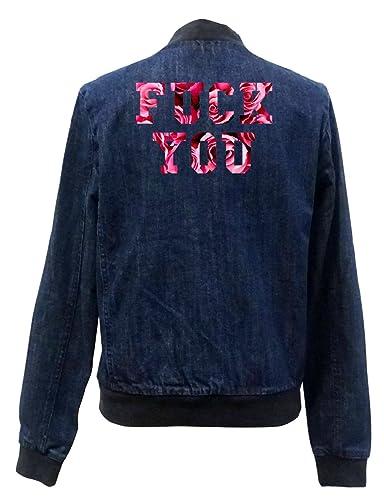 Fuck You Roses Bomber Chaqueta Girls Jeans Certified Freak