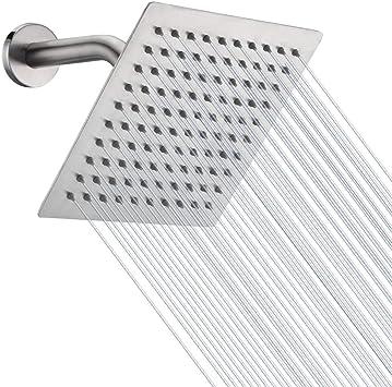 HIGH PRESSURE Rain Shower head NearMoon High Flow Stainless Steel 8 Inch Square