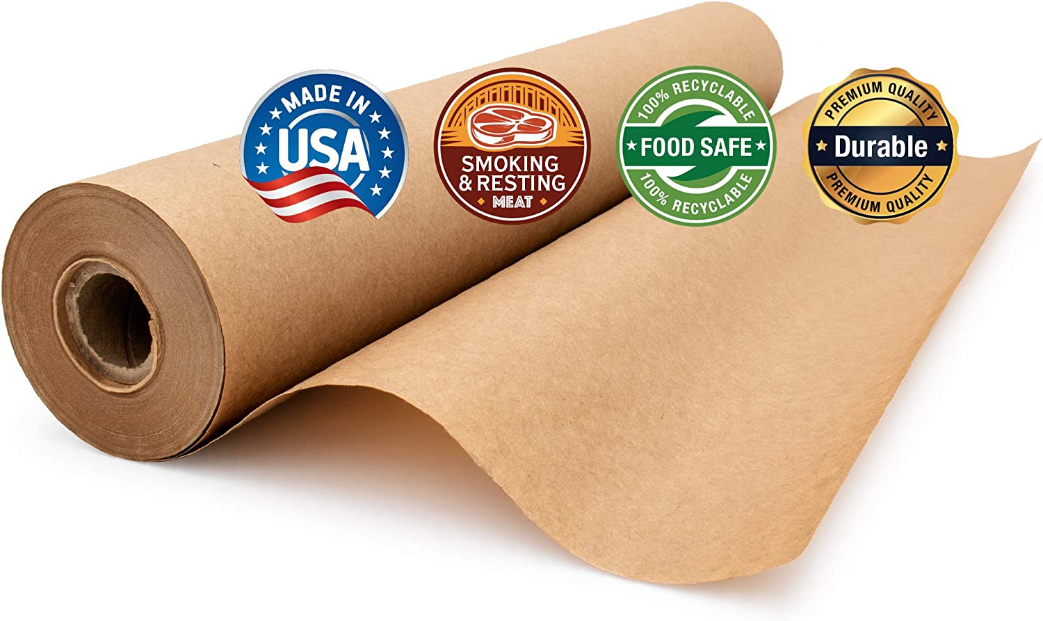 Brown Butcher Paper Roll Unwaxed /& Uncoated for Smoking /& Resting Meat by Paper Pros Unbleached 17.75 inches x 100 feet