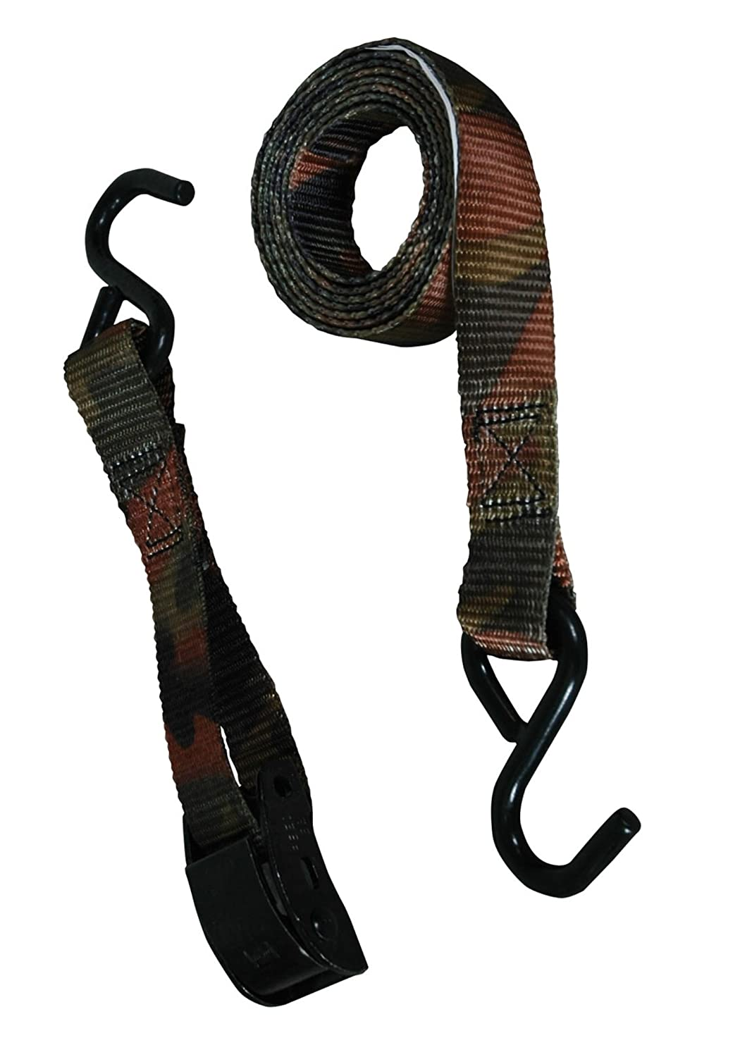 2 Piece BLK:11524 Highland 1152401 6 Cambuckle Tie Down with Hooks