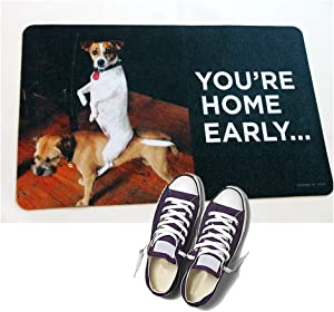 HIGH COTTON Welcome Doormat - You're Home Early