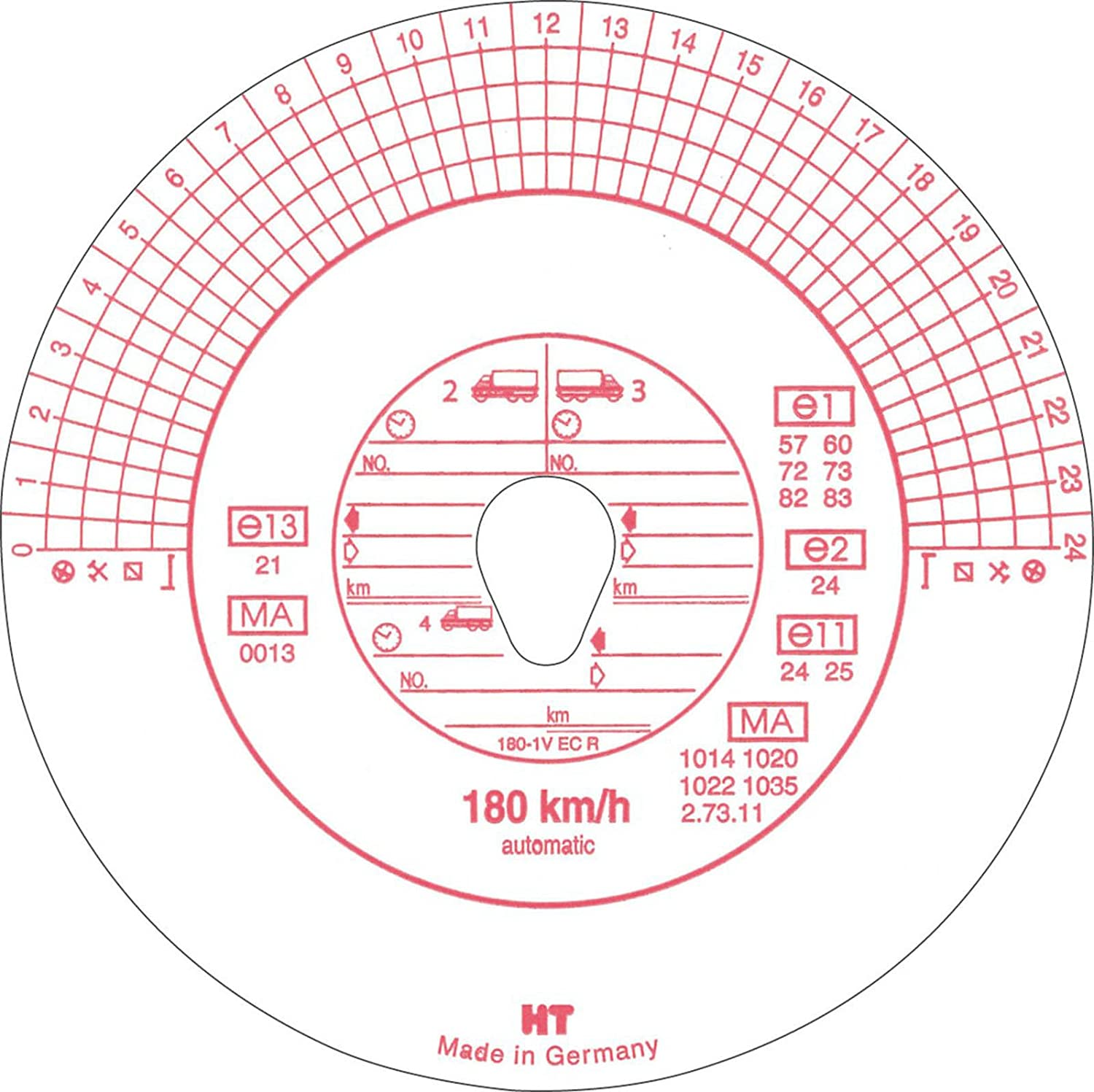 RNK 3103 Tachograph Discs Pack of 100