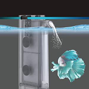 hygger Sponge Filter, in-Tank Aquarium Filter with 2 Replaceable Spare Filter Cartridge,Quiet Hang On Fish Tank Filter with Suction Cup for 2 to 10 Gallon (S/M