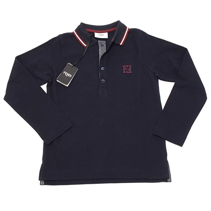 Shirt Roma Bimbo Lunga 5339g Maglia Kids12 Blu T Manica Fendi Polo zGqpVMSU
