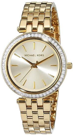 Michael Kors para Mujer-Reloj analógico de Cuarzo Chapado en Acero Inoxidable MK3365: Amazon.es: Relojes
