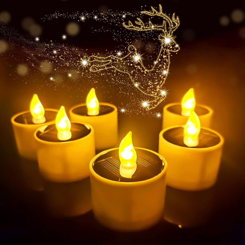 HisoKite Solar Tea Lights Candles