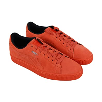 b458ee6101ab PUMA Suede Classic Tonal Nu Skool Mens Orange Suede Lace Up Sneakers Shoes 8