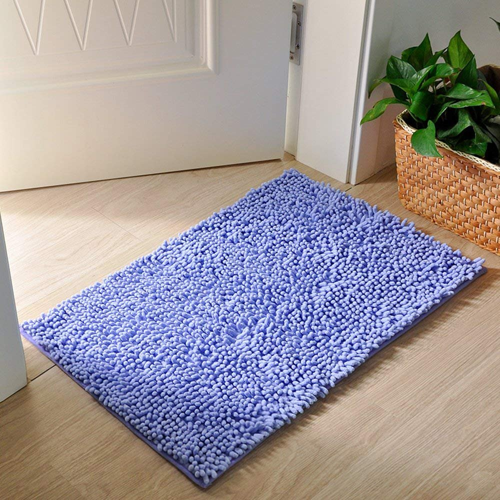 MAXYOYO Kitchen Rug 2 pieces Set Champagne Chenille Rug for Kitchen Non Slip Washable Runner Rug Set//Kitchen Rugs and Mats//Kitchen Floor Mat//Entryway Rug 47x 16 In 24x 16 In