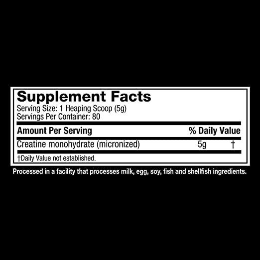 muscle tech platinum 100 creatine supplement nutrition facts