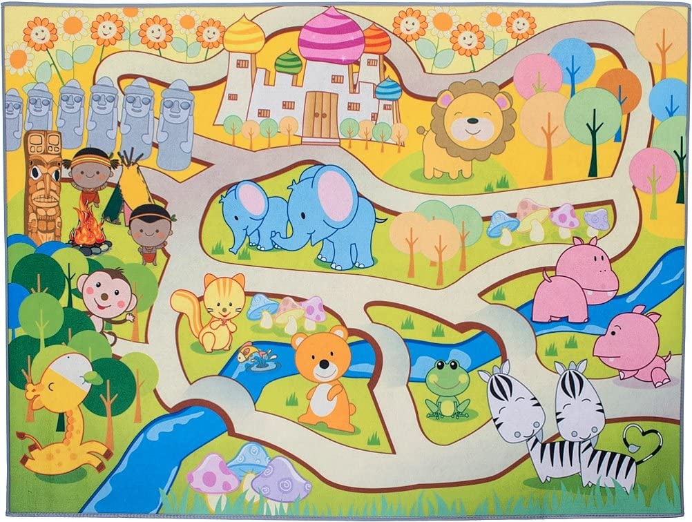 90 x 122 cm Bieco 19-900123 Spielmatte Zoo