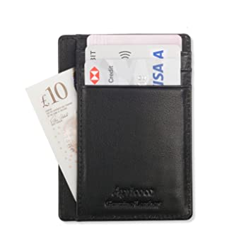 Slim wallet minimalist card wallet for men by apricoco rfid slim wallet minimalist card wallet for men by apricoco rfid blocking genuine leather credit colourmoves