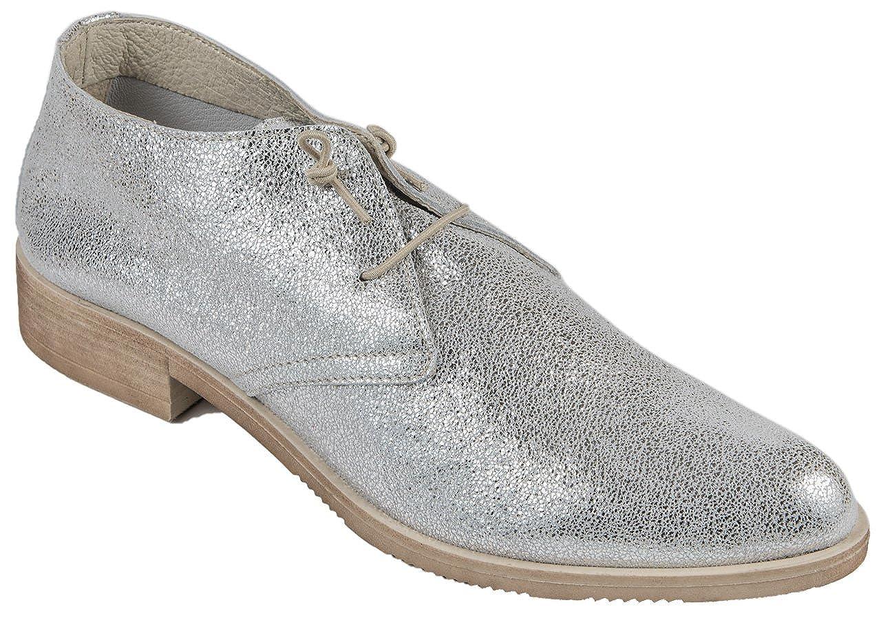 Buratti 4235ES-Silb - Zapatillas de Piel Para Mujer Plateado Plata 37 EU