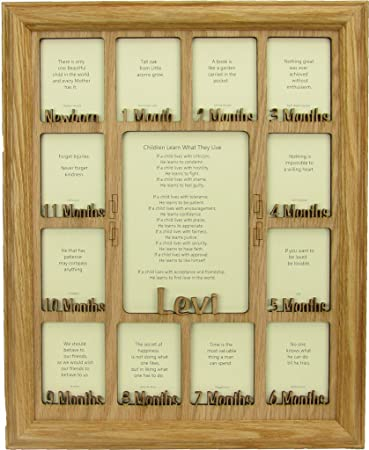 Amazoncom Baby First Year Picture Frame Personalized Picture
