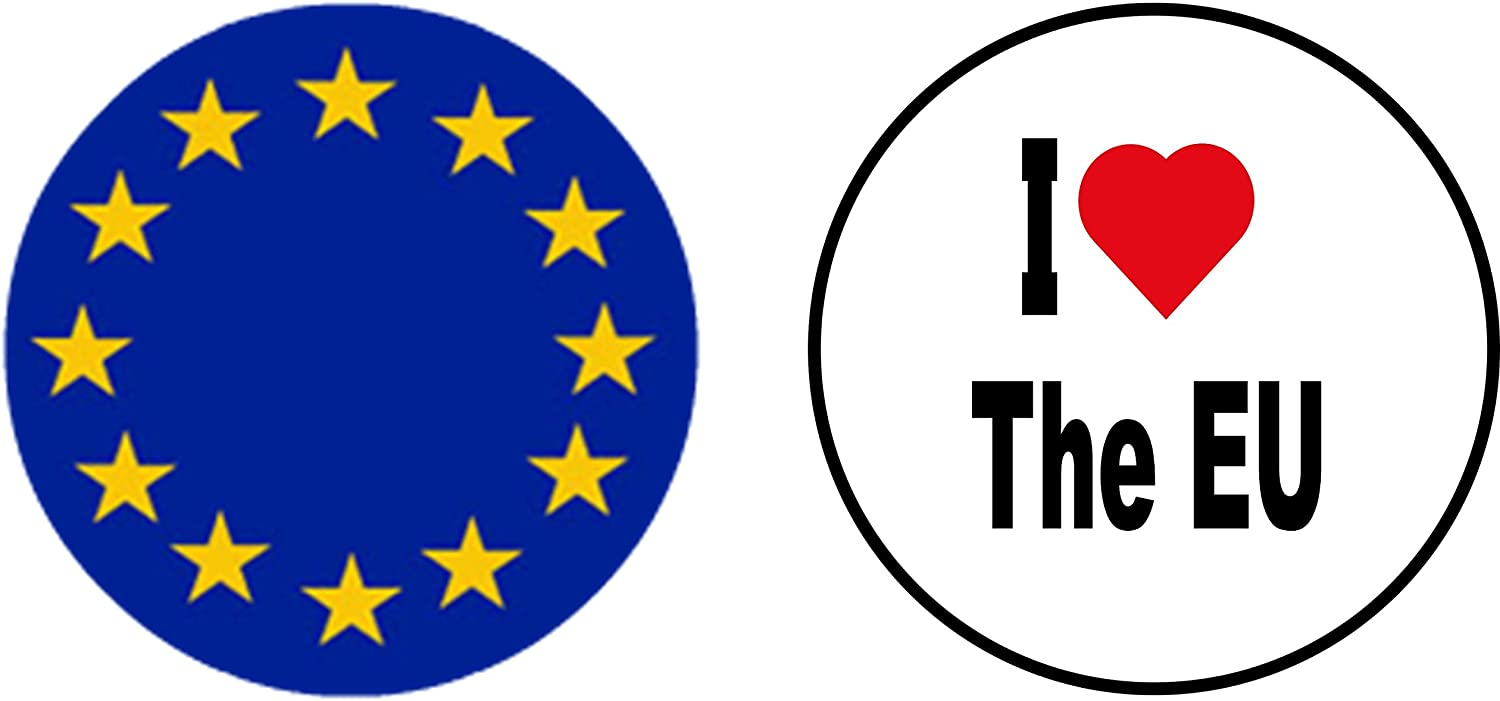 Novelty EU Remain Brexit Europe 25mm Button Badge 1 inch PEOPLE/'S VOTE