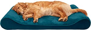 Furhaven - Plush Ergonomic Contour Cradle Orthopedic Mattress Lounger Dog Bed - Available in Multiple Colors & Styles