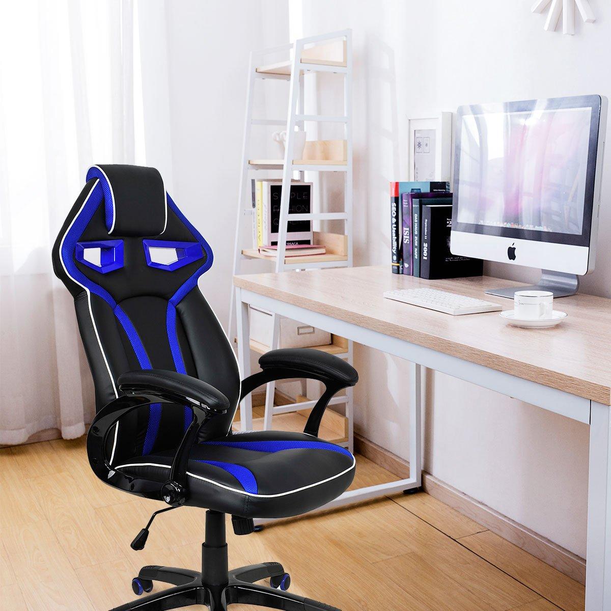 Costway Racing Stuhl Burostuhl Gaming Schreibtischstuhl