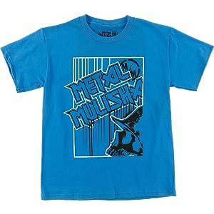 Metal Mulisha Boys Glued Short-Sleeve Shirt Medium Turquoise