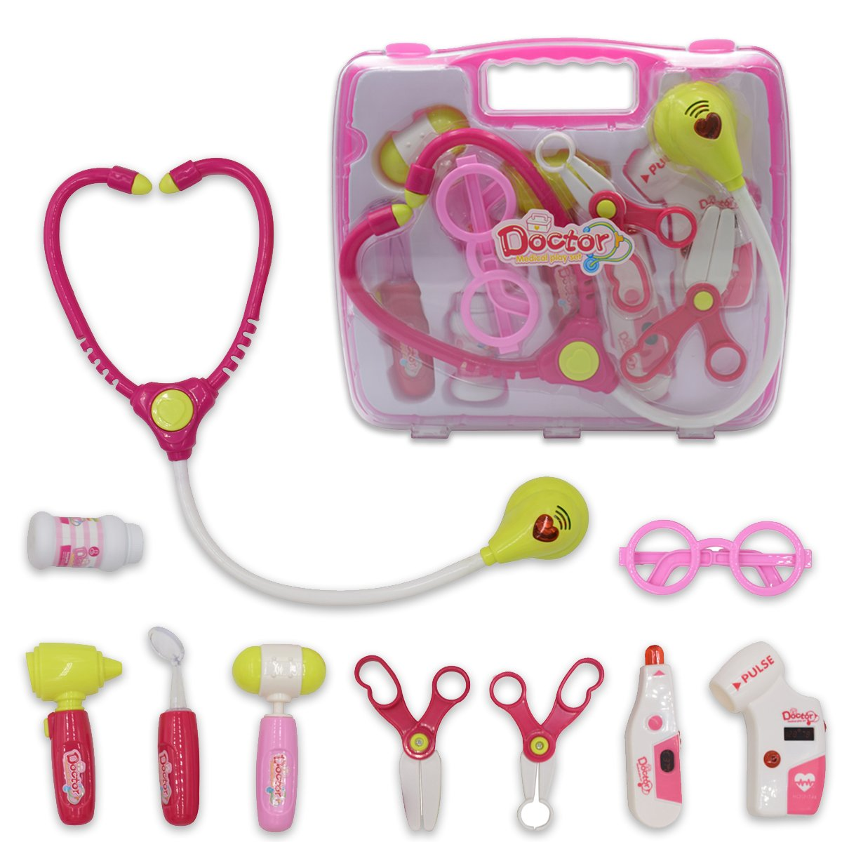 Seprovider Role Pretend and Play Toy Doctor Playset for Kids Children