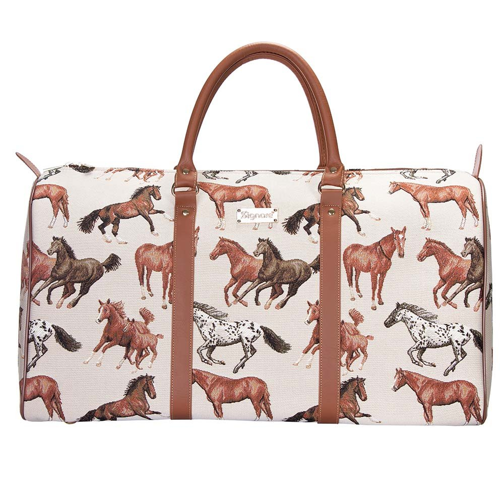 Running Horse Big Holdall by Signare/Ladies Sports Trip Suitcase Overnight Travel Luggage/BHOLD-RHOR
