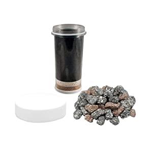 Nikken Aqua Pour 1 Filter Cartridge + 1 Micro Sponge Pre-Filter + 1 Mineral Stones - 1361 + 1362 + 1386, Advance Replacement for Gravity Water Filter Purifier System 1360 | PiMag Water System