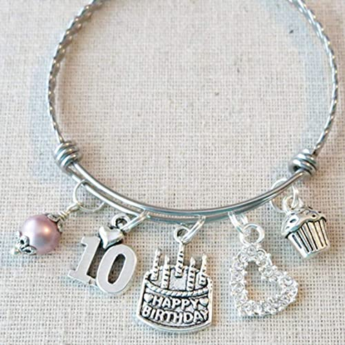 Amazon 10th BIRTHDAY GIRL Birthday Charm Bracelet