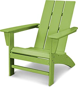 POLYWOOD AD420LI Modern Adirondack Chair, Lime