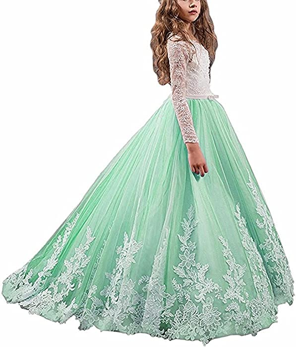 Amazon.com: Fabulous Long Pageant Dresses for Girls Prom Ball Gowns ...