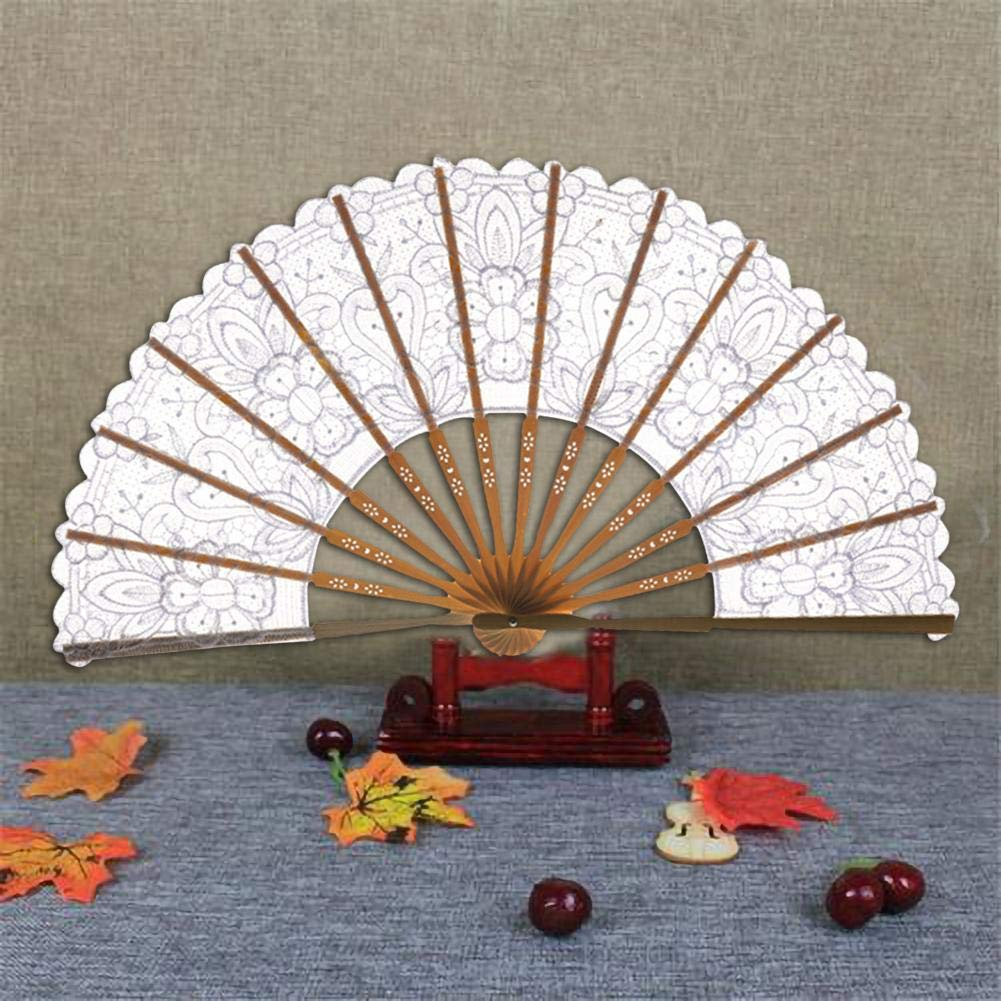 Abanico Plegable Estilo Chino Vendimia Que Dobla La Fan Hueco del Cord/ón Fan Decorativa del Arte De Bamb/ú del Estilo Antiguo para Guardar