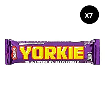 Yorkie Biscuit & Raisins Chocolate Candy Bars 7 x46g. : Grocery & Gourmet Food