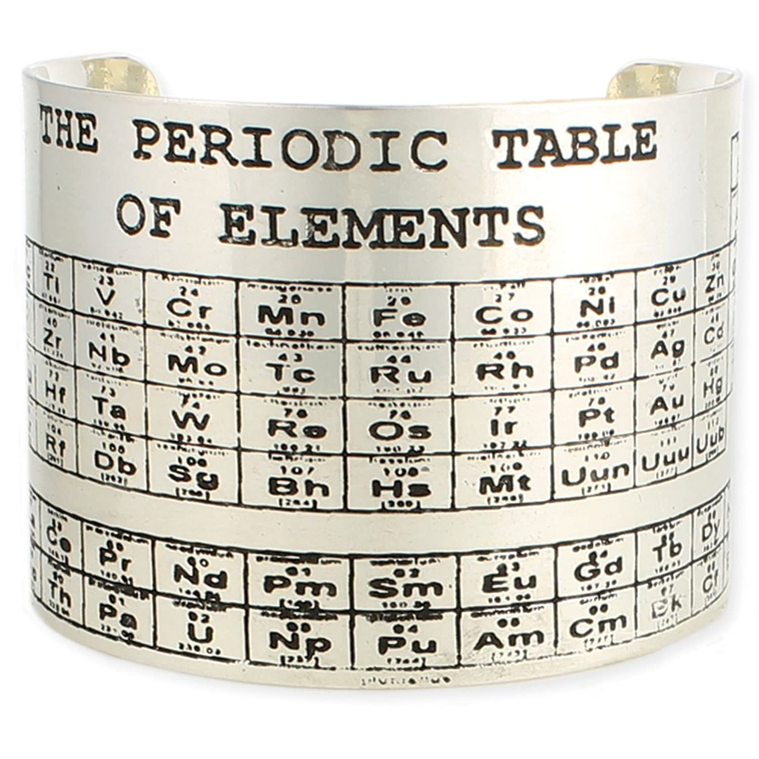 Amazon periodic table of elements cuff bracelet one size amazon periodic table of elements cuff bracelet one size fits most jewelry gamestrikefo Gallery