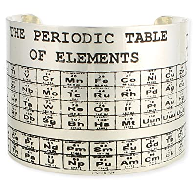 zad fashion jewelry periodic table of elements cuff bracelet one size fits most