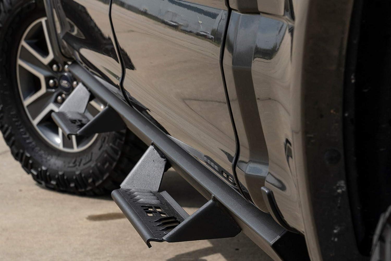 Rough Country AL2 Drop Steps 17-20 F250 F350 fits SuperCrew Aluminum Nerf Steps 2015-2020 F150 AL315204