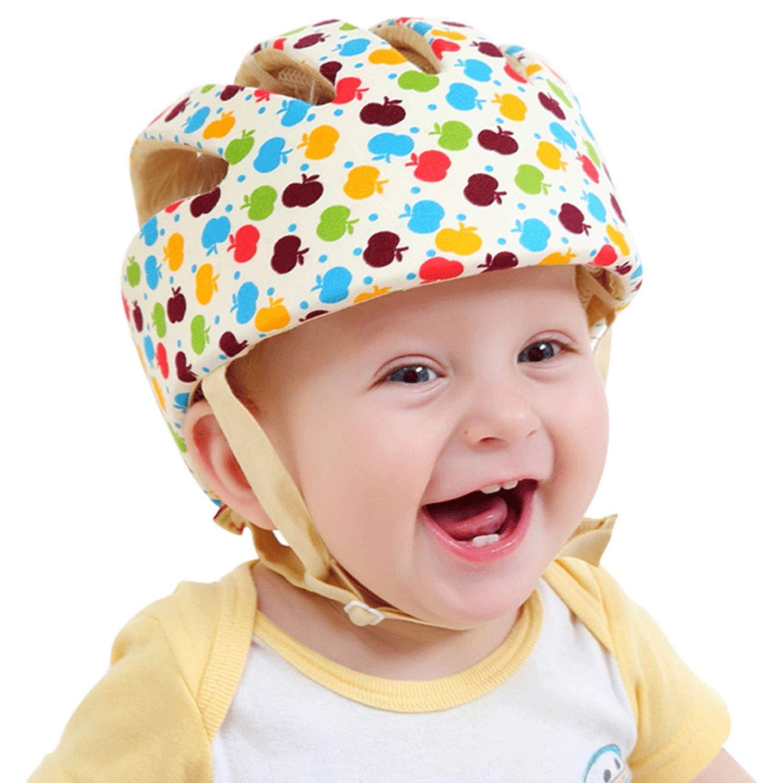 caramelo amarillo para beb/és de 6 meses a 6 a/ños para aprender a gatear caminar jugar suave y c/ómodo gorro de protecci/ón de seguridad para beb/és ajustable Casco de seguridad para beb/és