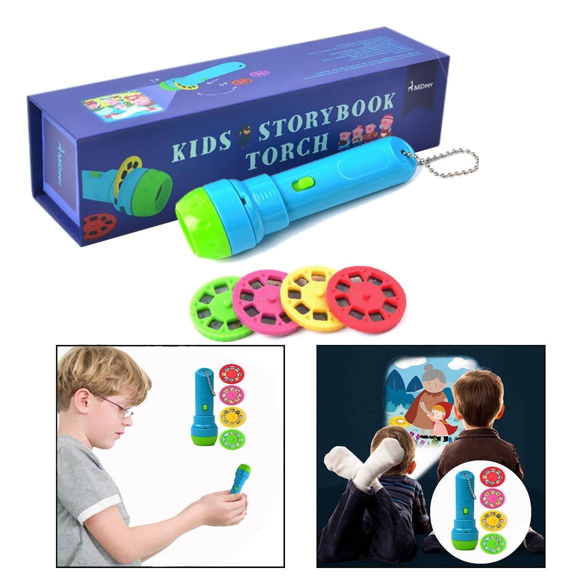 XLKJストーリー投影懐中電灯投影トーチのおもちゃ子供の睡眠ストーリーショー32スライド4子供のためのおとぎ話の映画。 B07K444ZQC