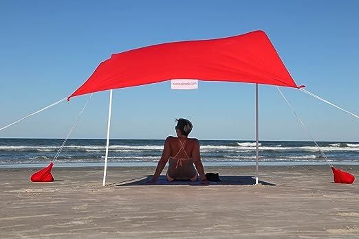 Amazon.com: Otentik Beach SunShade - With Sandbag Anchors - The Original Sunshade since 2011: Sports & Outdoors