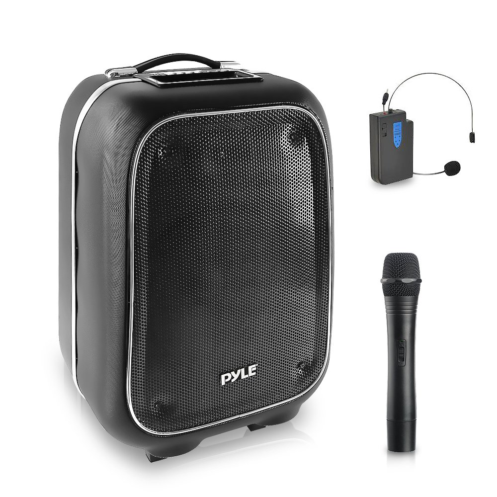 Wireless Portable Pa Speaker System 400 W Battery Earise F9 Bluetooth Powered Rechargeable Sound Stereo And Microphone Set With Mp3 Usb Micro Sd