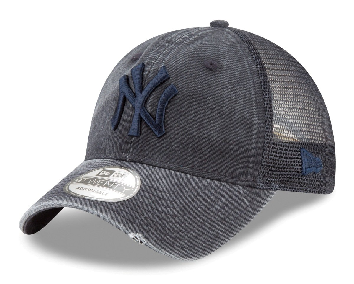 Amazon.com   New Era New York Yankees MLB 9Twenty Tonal Washed Adjustable  Meshback Hat   Sports   Outdoors 240349b9b62b