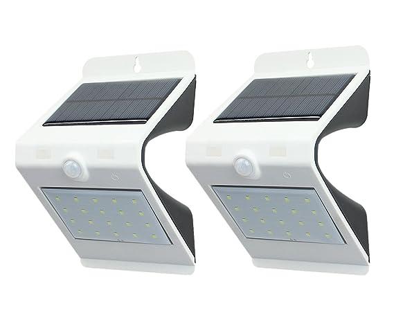 Asvert 6 pezzi luci per esterno solari lampada led solare
