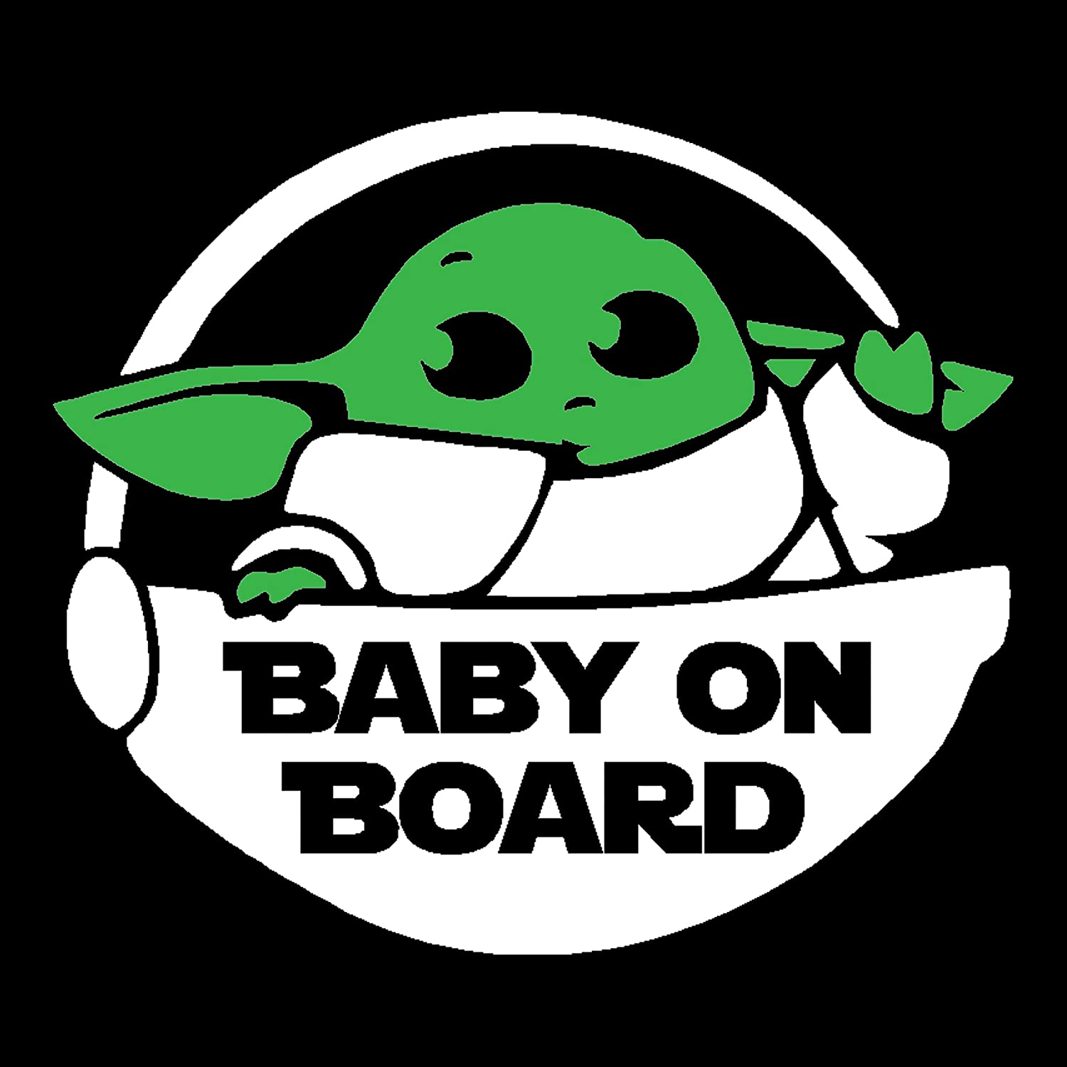 and Designs Please Message Us Custom Colors Sizes Baby On Board Decal H 5.5 by L 5.5 Inches, White