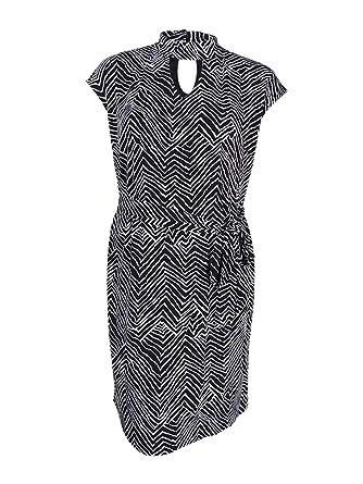 f755f4fc84bd6 INC Womens Plus Cut-Out Printed Casual Dress B W 2X at Amazon ...