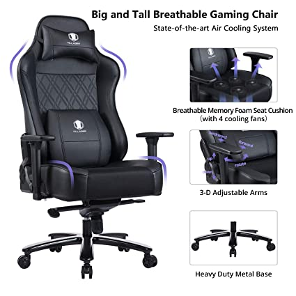 Outstanding Amazon Com Killabee Big And Tall Memory Foam Gaming Chair Pdpeps Interior Chair Design Pdpepsorg