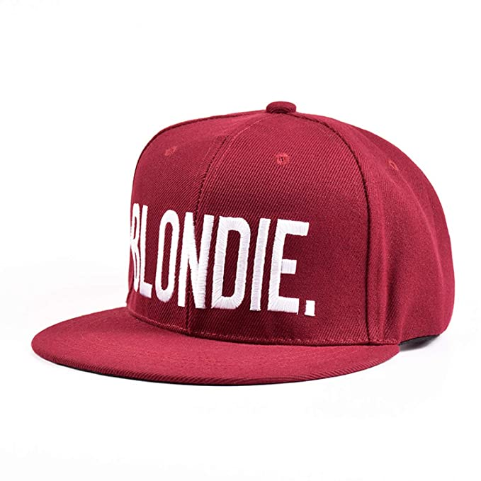 856bcf10df0df New Blondie Brownie Burgundy Snapback Hats Cotton Acrylic Women ...