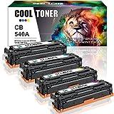 Cool Toner 4 Pack Compatible pour Toner HP 125A CB540A CB541A CB542A CB543A Cartouche de Toner pour HP Color LaserJet CP1215 CP1515N CP1518NI CM1312 CM1312NFI Toner HP CP1515N CP1215 1512 Toner HP CM1312 MFP Cartouche HP Color Lazerjet CP1515N Imprimante HP Laser