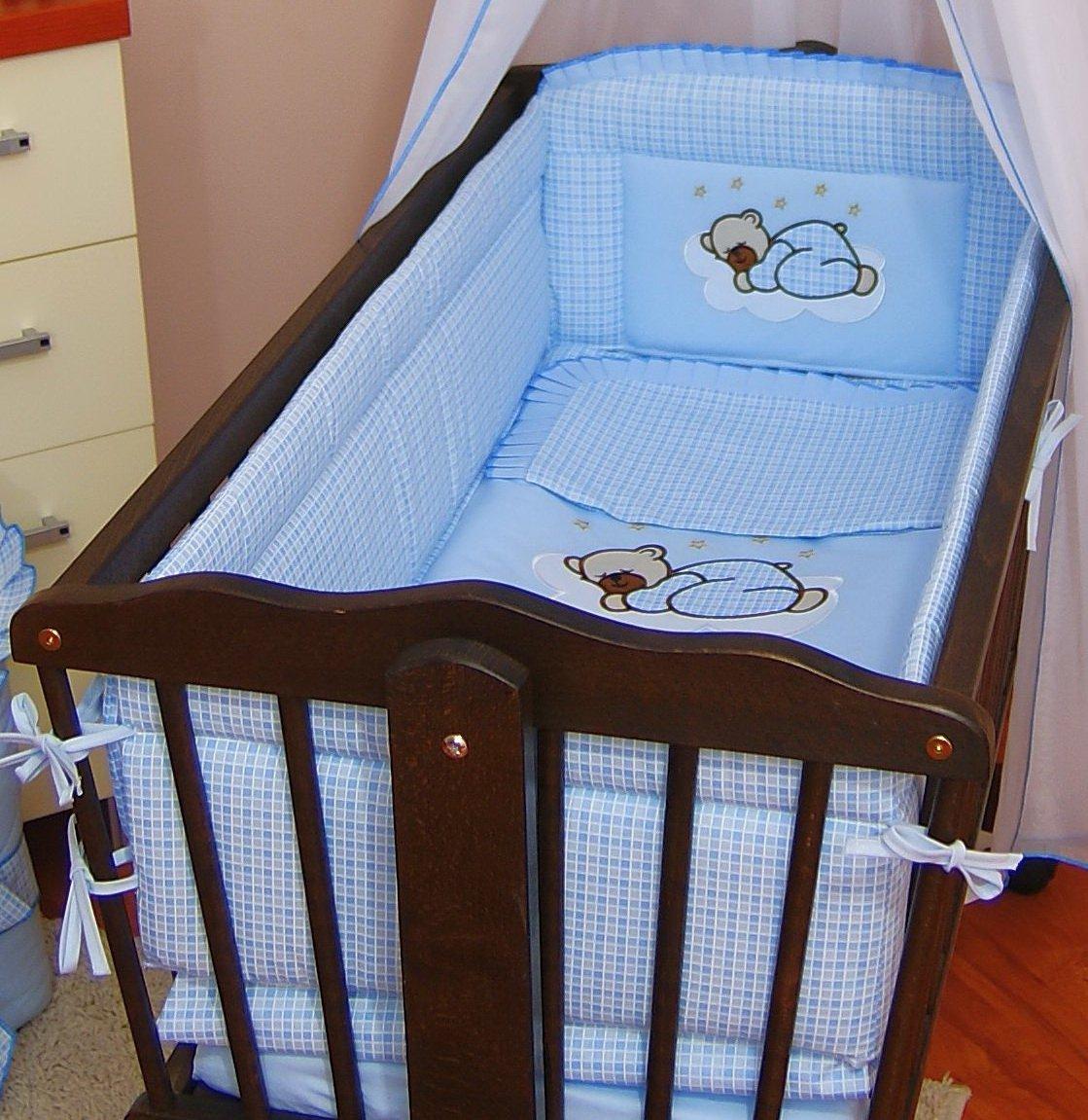 Umrandende Babybettsicherung, ca. 260cm lang, vollständig gepolstert, geeignet für Schaukelbett/Wiege ca. 260cm lang vollständig gepolstert COKAY LTD