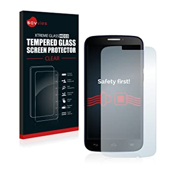 savvies Cristal Templado Compatible con Alcatel One Touch Pop C7 ...