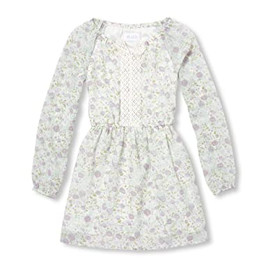 3a5a4e7377 Amazon.com  The Children s Place Big Girls  Long Sleeve Floral Dress   Clothing