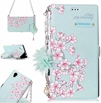 Para carcasas y fundas para celulares Para Sony Xperia L1 Estuche de flores con estampado de