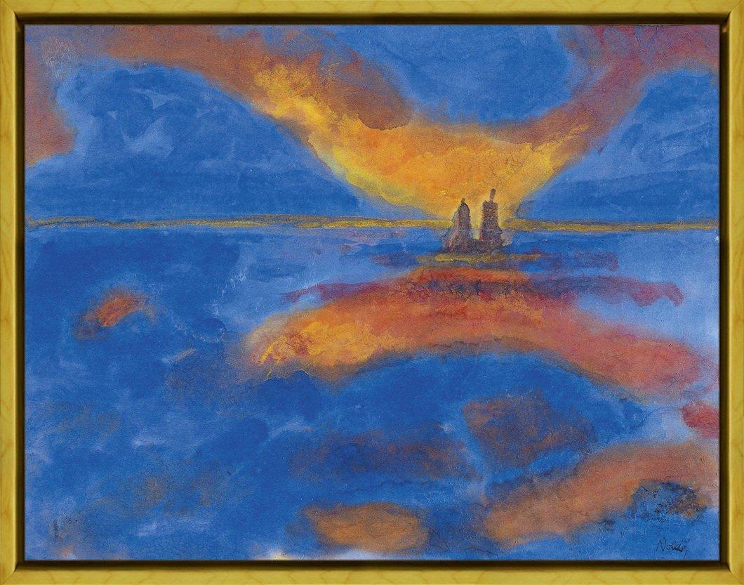 Berkin Arts Rahmen Emil Nolde Giclée Leinwand Prints Gemälde Poster Reproduktion(Rote Wolken)