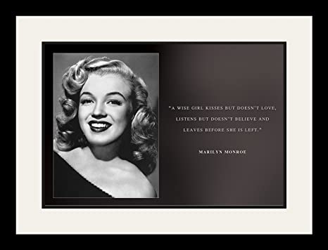 Wesellphotos Marilyn Monroe Photo Encadrée Poster Citation A